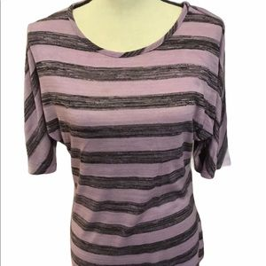 New Directions Rayon purple blouse med striped